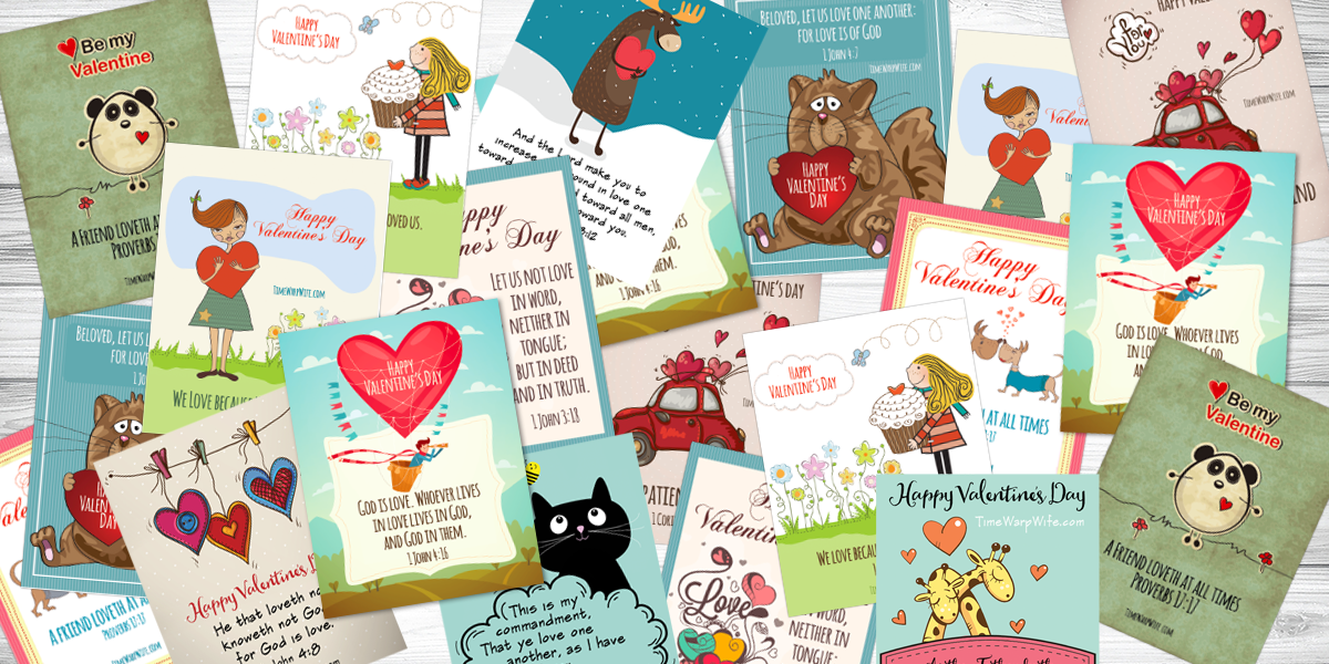 Printable Valentine Cards With Bible Verses Busy Books and More – Verses for Valentine Cards